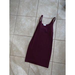 Maroon t-shirt dress!